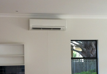 Mitsubishi Electric Split System in Kitchen/Living Area